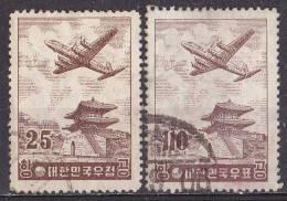 Corea Del Sud 1954-Posta Aerea Usati - Korea, South