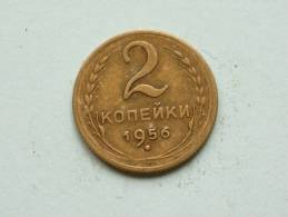 2 Kopeks 1956 / Y # 113 ( Uncleaned Coin - For Grade, Please See Photo ) !! - Russie
