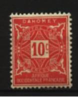Dahomey  Taxe   N° 10  Neuf * Luxe   Cote Y&T  0,60  €uro  Au Quart De Cote