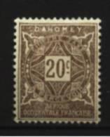 Dahomey  Taxe   N° 12  Neuf * Luxe   Cote Y&T  1,25  €uro  Au Quart De Cote