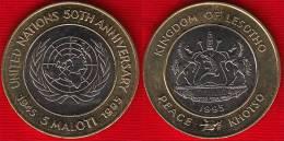 "Lesotho 5 Maloti 1995 Km#67 ""50y Of United Nations"" BiMetallic UNC - Lesotho"