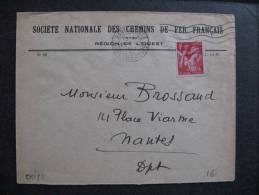 CMI 23 -  TB Enveloppe, Affranchie Avec: N° 433. De Nantes  Pour Nantes (21/../1941) . - Postmark Collection (Covers)