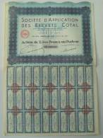 Société D'application Des Brevets Cotal - Actions & Titres