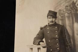 Militaria Dunkerque 25/11/1914 Guerre 14-18 Photographie Originale D'un Poilu Décor Studio - Guerre, Militaire