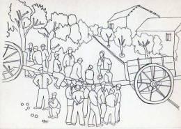 Barrage Des Viticulteurs,jeu De  Boules, Petanque, Illustrateur Masri, Chars - Boule/Pétanque