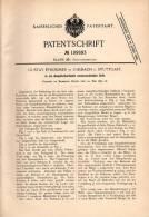 Original Patentschrift - G. Pfrommer In Uhlbach B. Stuttgart , 1899 , Sofa In Dampfschwitzbett Umwandelbar !!! - Mobili