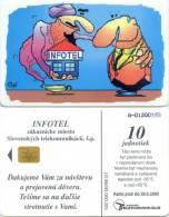 Telefonkarte Slowakei - Werbung - 6/98 - Infotel - Slowakei