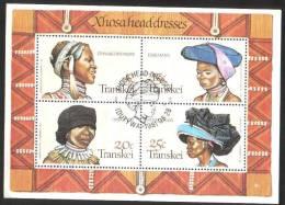 M017) TRANSKEI FOGLIETTO CAPPELLI 1981 USATO FDC - Transkei