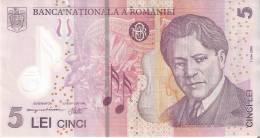 BILLETE DE RUMANIA DE 5 LEI DEL AÑO 2005 (BANK NOTE) POLIMERO - Rumania