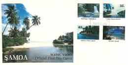 1984  Scenic Views Unaddressed FDC - Samoa