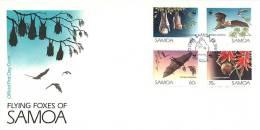 1993  Flying Foxes  WWF Symbol Unaddressed FDC - Samoa