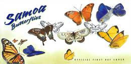 2001  Butterflies  Unaddressed FDC  Papillons - Samoa