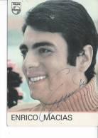 ENRICO MACIAS - Autographe - Chanteurs & Musiciens