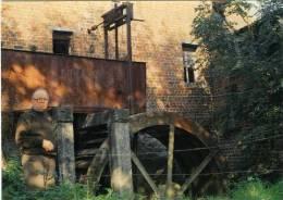 WAMBEEK Bij Ternat (Vlaams-Brabant) - Molen/moulin - Historische Prentkaart Van De Klapscheutmolen En Molenaar De Troch. - Ternat