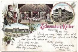 Gruss Aus Osnabruck Schaumburg's Keller 1898 Postcard - Osnabrück