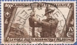 Italy, 10 C. 1932, Sc #291, Used - 1900-44 Vittorio Emanuele III