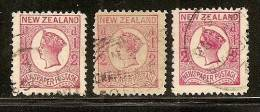New Zealand 1873 Queen Victoria, Perforation 12 1/2, Used (o) - Used Stamps
