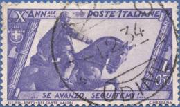 Italy, 0.50 L. 1932, Sc #297, Used - 1900-44 Vittorio Emanuele III