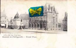 Souvenir De PHILIPPEVILLE - Grand Place - Superbe Carte Très Animée - Philippeville