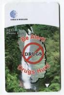 TK 5322 DOMINICA - Magnetic 272CDMA... Be Alert Drugs Hurt ! EC$10 - Dominica