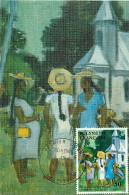 1984  Tableau J. Boulaire «Sortie De Culte»  223  Carte Maximum - Cartoline Maximum