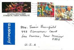 1994  70 C And 80 C Christmas Issue On Air Letter To USA - Covers & Documents