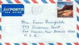 1993 $1.50 Warbrick Terrace  Thermal Wonders  Single On Air Letter To USA - Covers & Documents