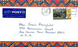 1997  $1.50 Scenic Railways  Single On Air Letter To USA - Covers & Documents