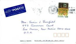 1997  $1.50 Christchurch Botanical Garden  Single On Air Letter To USA - Covers & Documents