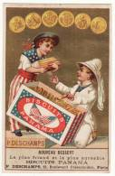 CHROMO Dorée Biscuits Viennois P. Deschamps Courbe-Rouzet Biscuits Panama Femmes Coiffe Chapeau Médailles D'or - Chromos
