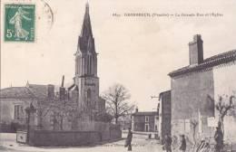 -  4451  -  GROSBREUIL  -  La Grande Rue Et L'Eglise  -  ¤¤ - France