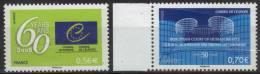 Service 142-143 Conseil De L´Europe  60 Ans Et Droits De L´homme Neuf** (2009) - Officials