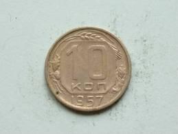 1957 - 10 KOPEKS / Y # 123 ( Uncleaned - For Grade, Please See Photo ) ! - Russie