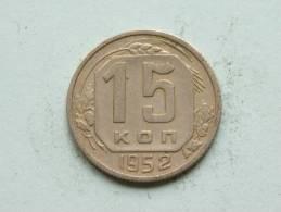 1952 - 15 KOPEKS / Y # 117 ( Uncleaned - For Grade, Please See Photo ) ! - Russie