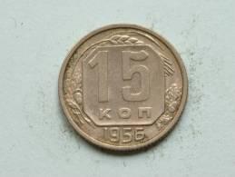 1956 - 15 KOPEKS / Y # 117 ( Uncleaned - For Grade, Please See Photo ) ! - Russie
