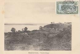 CPA CONGO BRAZZAVILLE  Beau Paysage Vue Du CONGO  Village Maisons 1902 - Brazzaville
