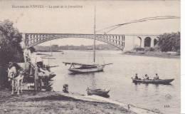20833 Environs De NANTES, Le PONT DE LA JONNELIERE N° 100 AD -attelage Charette Voilier