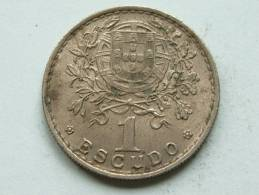 1951 - 1 ESCUDOS / KM 576 ( Uncleaned - For Grade, Please See Photo ) ! - Portugal