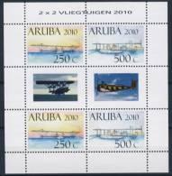 ARUBA 2010 NVPH 438-39 SHEET AIRPLANES POSTFRIS NEUF MNH ** - Curacao, Netherlands Antilles, Aruba