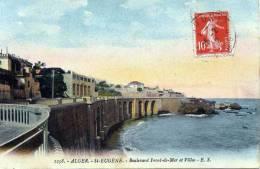 ALGER - ST.EUGENE (Algerien), Boulevard Front De Mer Et Villas, Gelaufen 1912, Gute Erhaltung - Algerien
