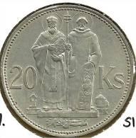 SLOVAKIA 20 KORUN MAN FRONT SHIELD BACK 1941 AG SILVER VF KM7 READ DESCRIPTION CAREFULLY !!! - Slovaquie
