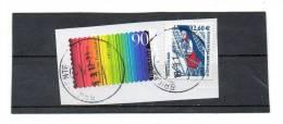 ALLEMAGNE  2 Timbres 90 Et  2,60 €    Année 2012 Pour Un Timbre    (sur Fragment Oblitérés) - [7] West-Duitsland