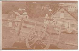 Chile South  Wood Houses Very Old Sepia Vintage Original Photo Postcard Ca1900 Ak Cpa [WIN3_390] - Cile
