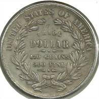 UNITED STATES USA $1 WREATH FRONT WOMAN BACK 1871 REPRODUCTION !!! IN AG SILVER V READ DESCRIPTION CAREFULLY !!! - Emissioni Federali