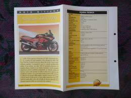 SCHEDA MOTO MITICHE TOP MOTO PER COLLEZIONISMO - KAWASAKI ZZR 1100 - - Motor Bikes