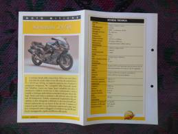 SCHEDA MOTO MITICHE TOP MOTO PER COLLEZIONISMO - KAWASAKI ZX-9R - - Motor Bikes