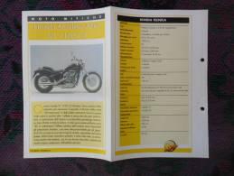 SCHEDA MOTO MITICHE TOP MOTO PER COLLEZIONISMO - HONDA SHADOW AERO VT 1100 C3 - - Motor Bikes