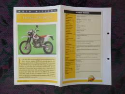 SCHEDA MOTO MITICHE TOP MOTO PER COLLEZIONISMO - HONDA XR 400 R - - Motor Bikes