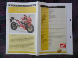 SCHEDA MOTO MITICHE TOP MOTO PER COLLEZIONISMO - HONDA RC 45 - - Motor Bikes