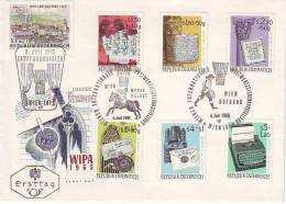"""766z1: WIPA 1965, Satz- FDC """"Die Entwicklung Des Briefes"""", Kat. 15.- € - Briefmarkenausstellungen"""
